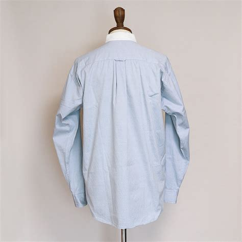 OLD CHAPS RALPH LAUREN COTTON PINPOINT OXFORD CLERIC SHIRT,Mens メンズ
