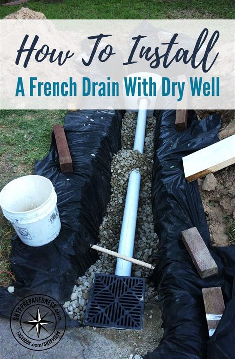 How To Install A French Drain with Dry Well | Dry well